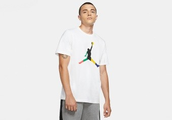 NIKE AIR JORDAN SPORT DNA JUMPMAN CREW TEE WHITE