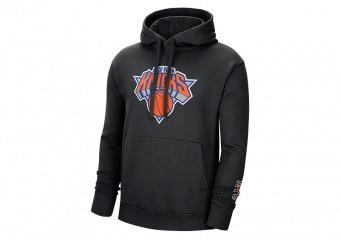 NIKE NBA NEW YORK KNICKS CITY EDITION LOGO PULLOVER HOODIE BLACK