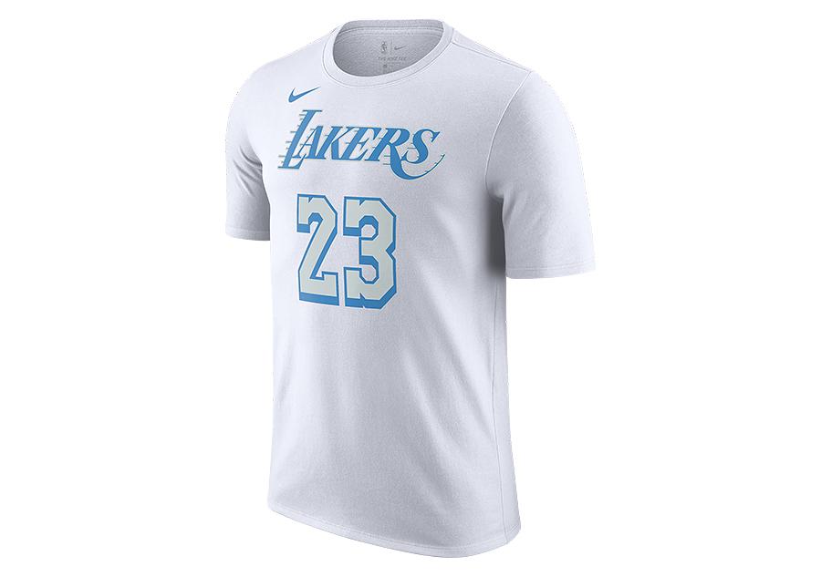 NIKE NBA LOS ANGELES LAKERS LEBRON JAMES CITY EDITION TEE WHITE ...