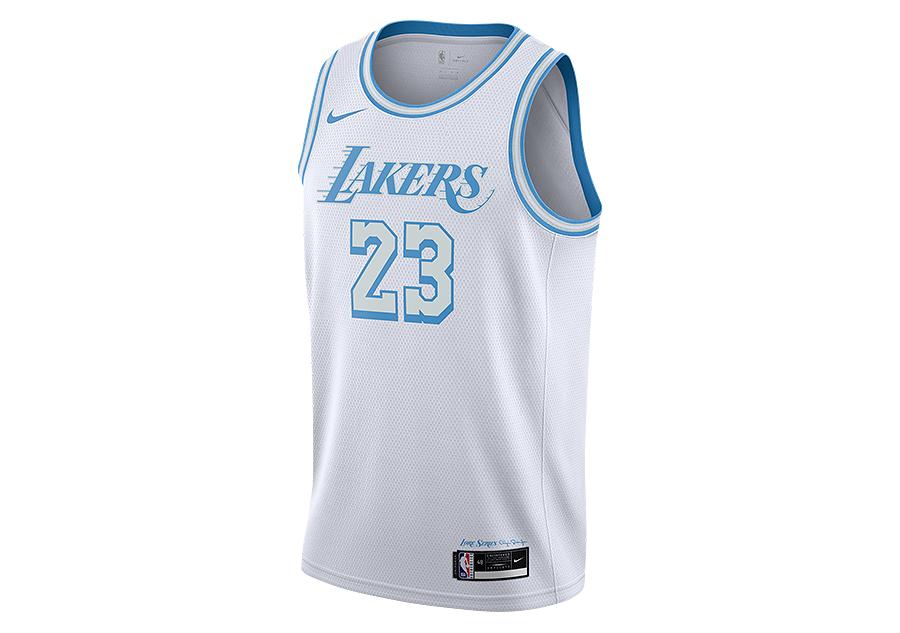 NIKE NBA LOS ANGELES LAKERS LEBRON JAMES CITY EDITION SWINGMAN ...