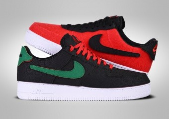 NIKE AIR FORCE 1 LOW 1/1 BLACK RED GREEN CUSTOM