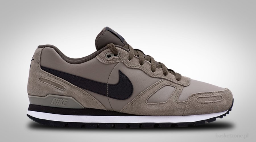 NIKE AIR WAFFLE TRAINER LEATHER STEEL GREEN