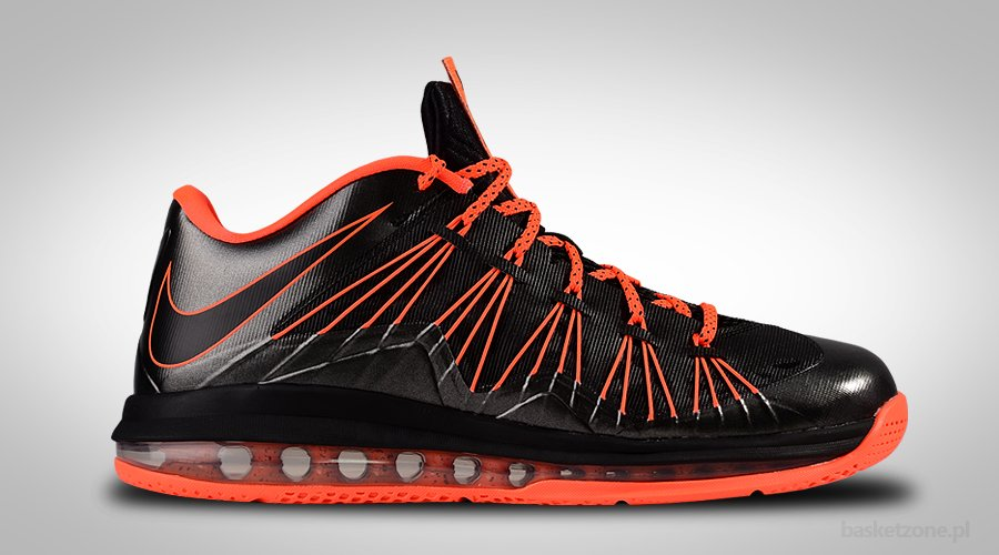 NIKE AIR MAX LEBRON X LOW BLACK TOTAL CRIMSON
