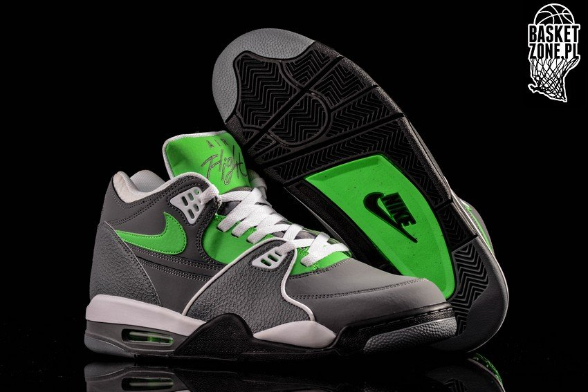 Cheap New Nike Air Flight 89 Cool Grey Poison Green White Black