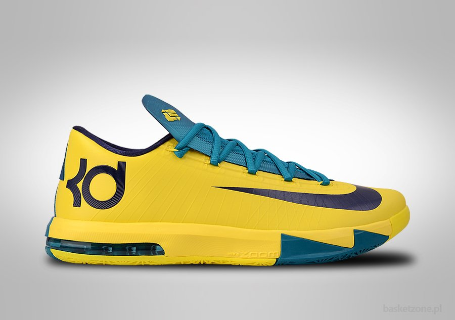 NIKE KD VI SONIC YELLOW TEAL NAVY