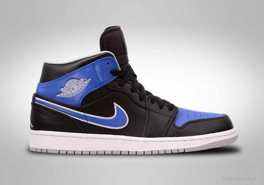 NIKE AIR JORDAN 1 RETRO MID BLACK GAME ROYAL