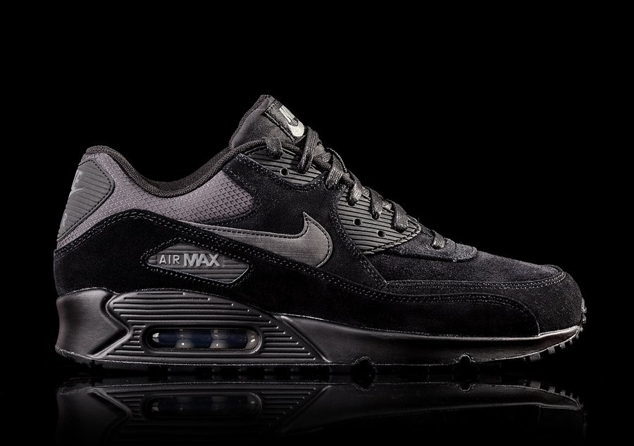 NIKE AIR MAX 90 PREMIUM BLACK DARK CHARCOAL