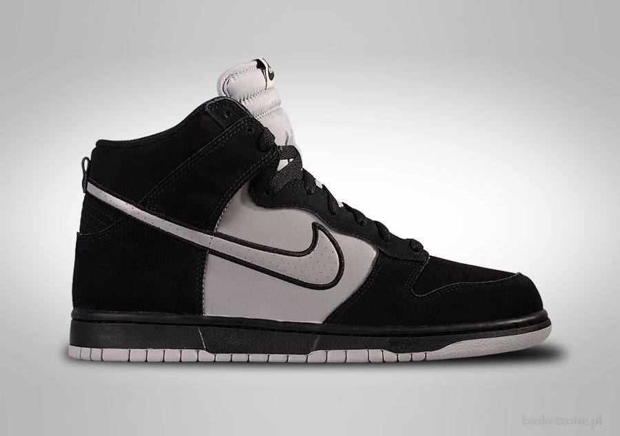 NIKE DUNK HIGH BLACK REFLECTIVE SILVER