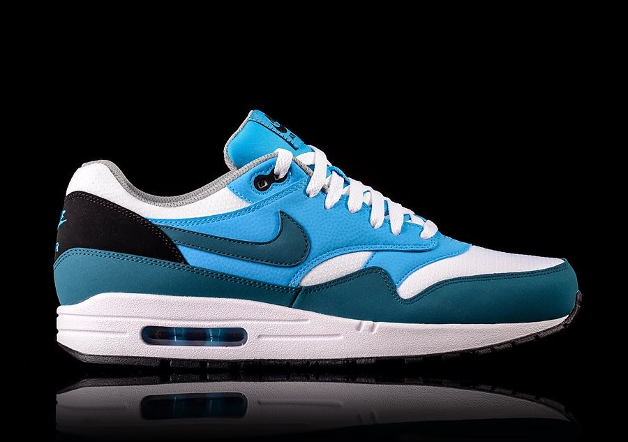 NKE AIR MAX 1 ESSENTIAL WHITE NIGHT FACTOR VIVID BLUE