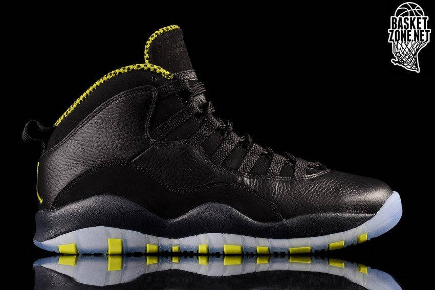 NIKE AIR JORDAN 10 RETRO BLACK VENOM GREEN price €145.00 ...