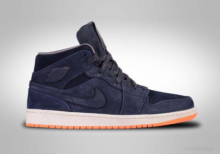 Nike Air Jordan 1 Nouveau Rétro Mi Obsidienne D'orange Atomique authentique vujinj5