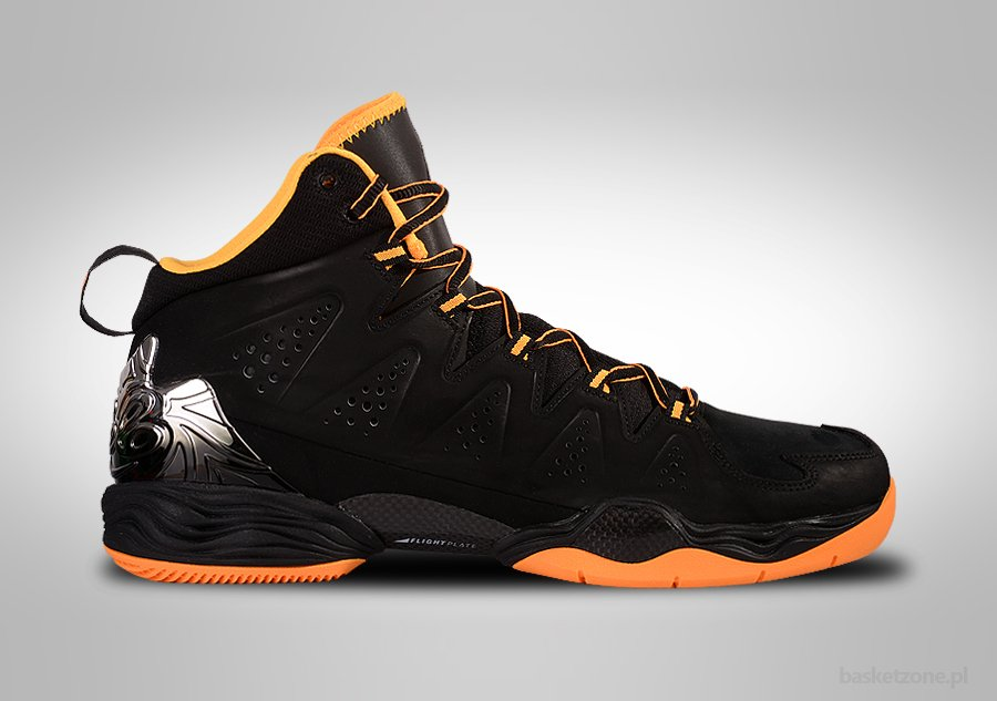 NIKE AIR JORDAN MELO M10 BLACK ATOMIC MANGO