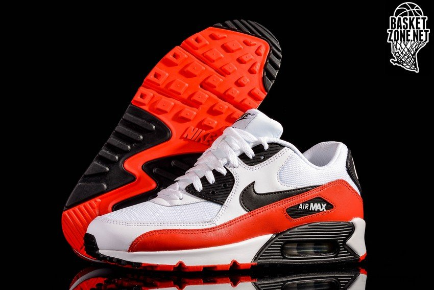Nike Air Max 90 Essential White Challenge Red Black