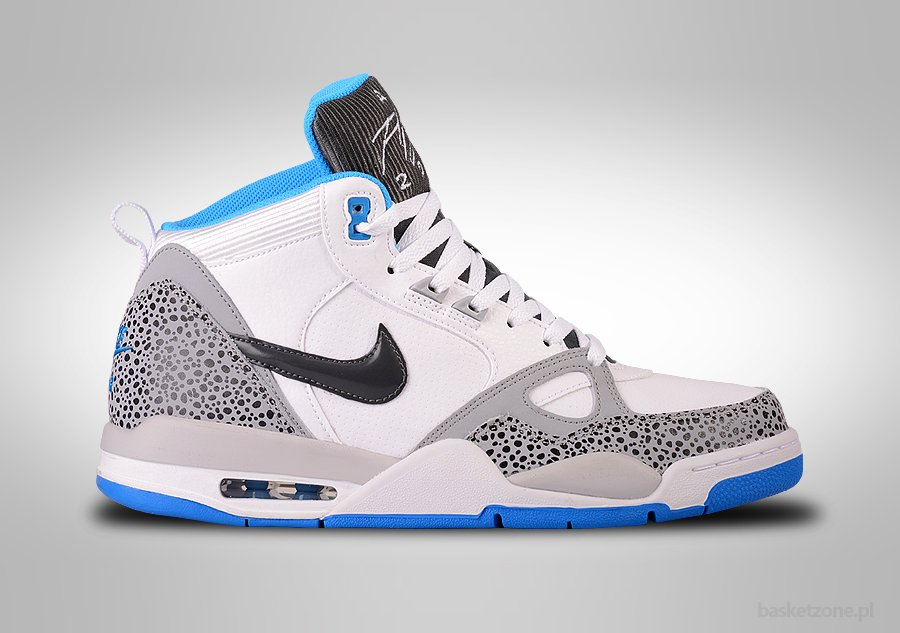 NIKE AIR FLIGHT '13 MID WHITE UNIVERSITY BLUE