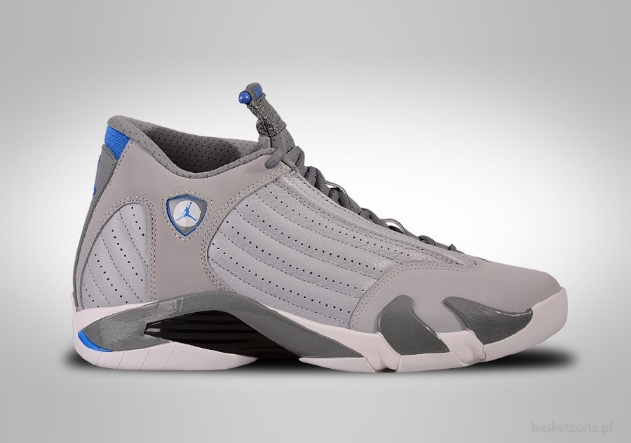 NIKE AIR JORDAN 14 RETRO WOLF GREY SPORT BLUE