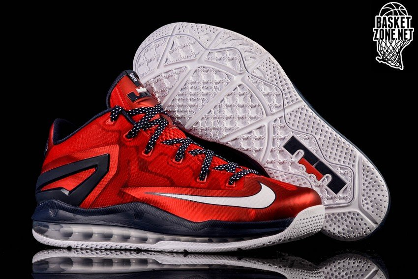 new style 783b9 411a8 NIKE LEBRON XI LOW INDEPENDENCE DAY