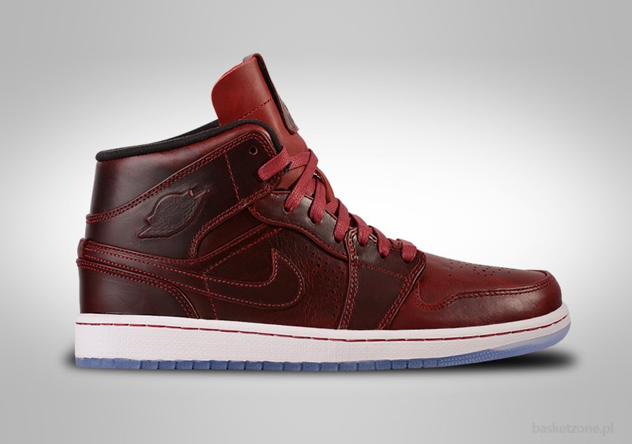 air jordan 1 mid nouveau team red for sale