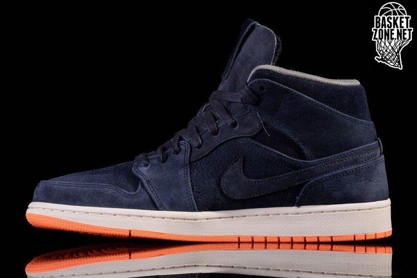 Nike Air Jordan 1 Retro Metà Nouveau Ossidiana Arancione Atomico gRF49
