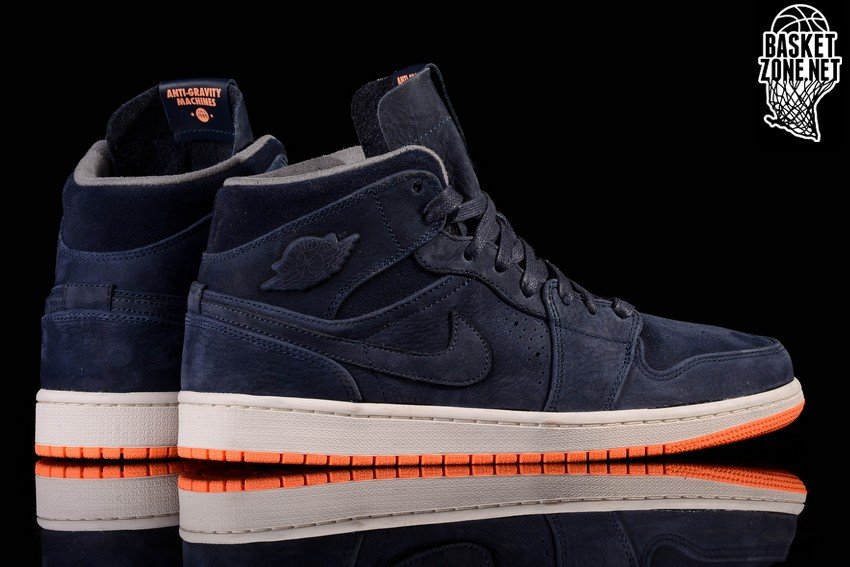 nike air jordan 1 retro mid nouveau obsidian atomic orange