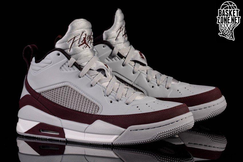 Nike Air Jordan Vol 9,5 Loup Gris Brun Foncé Bordeaux