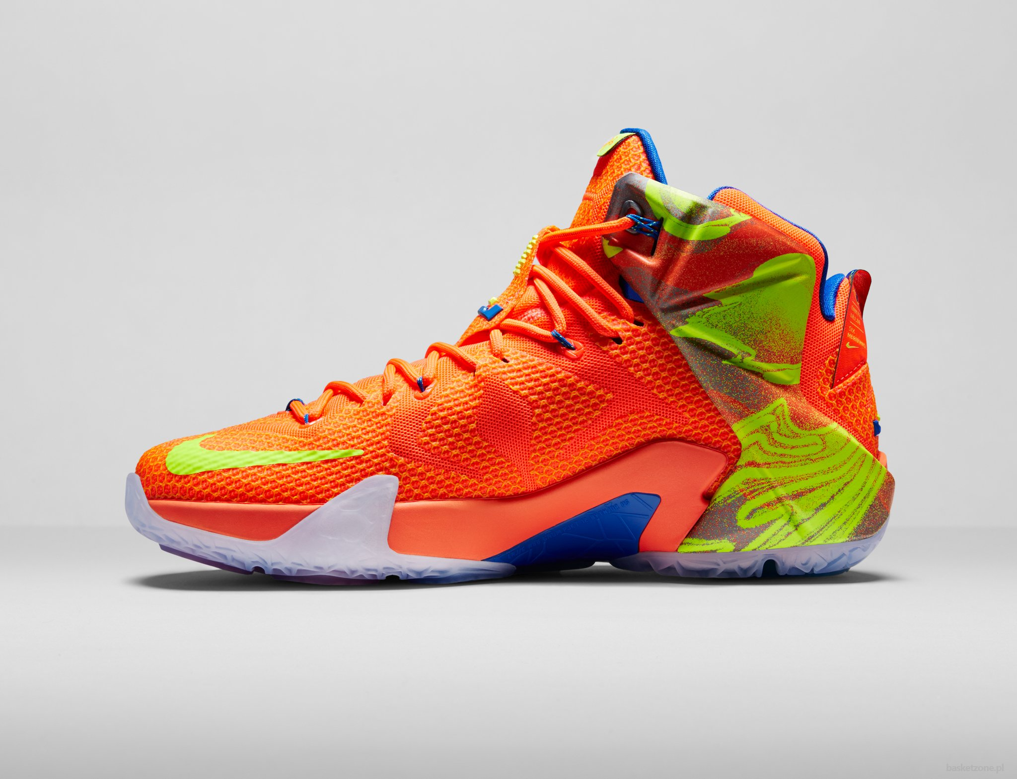 Cheap New Style Nike Lebron 12 Elite Black Orange Blue 684593 50