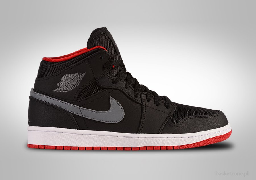 nike air jordan 1 mid nouveau black\/gym red 8 prices