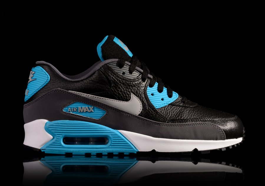 NIKE AIR MAX 90 LEATHER BLUE WOLF GREY