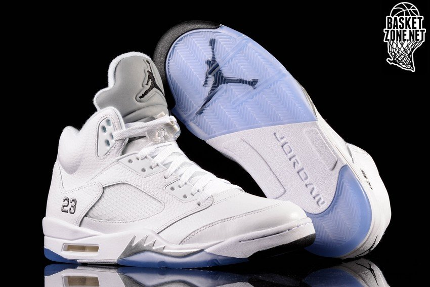 NIKE AIR JORDAN 5 RETRO WHITE METALLIC SILVER GS price €152.50 ... 79e5efe2f9a