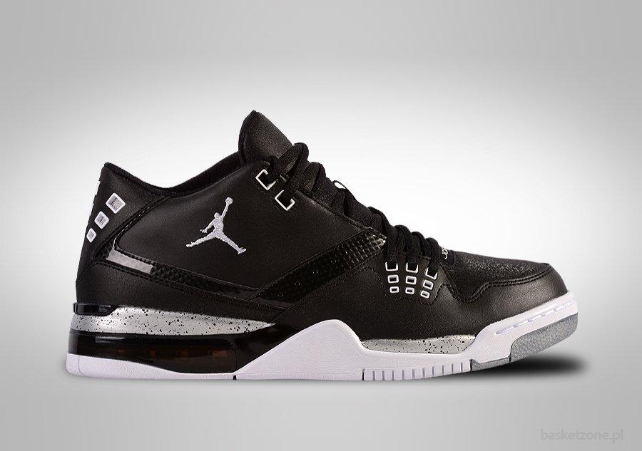 Nike air jordan flight 23 black white metallic silver for 105 00