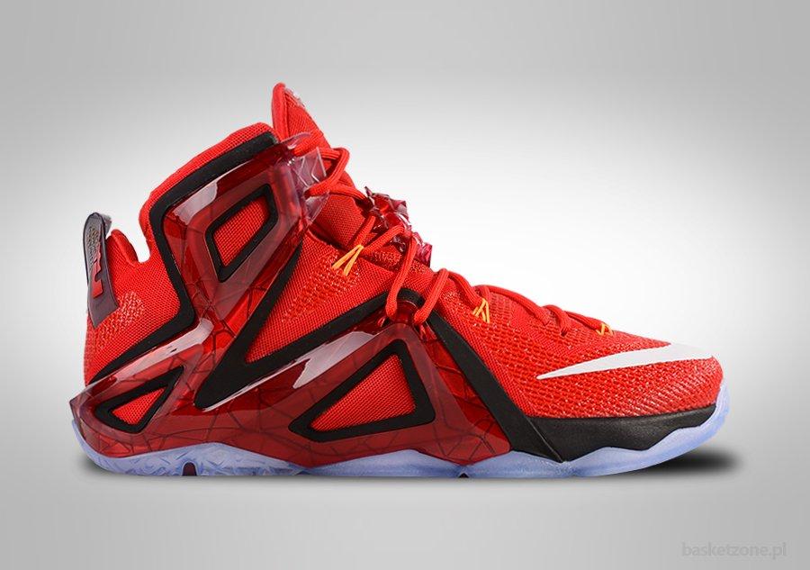 Lebron XII Elite [724559-618] Red/White/Black Basketball-Size 7.5-Nike