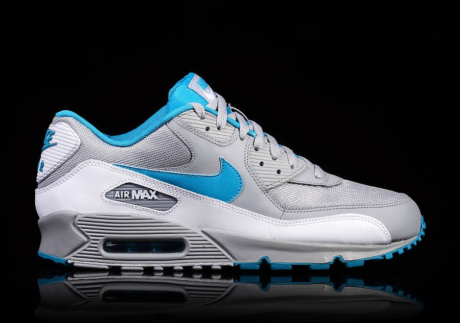 NIKE AIR MAX 90 WOLF GREY DYNAMIC BLUE
