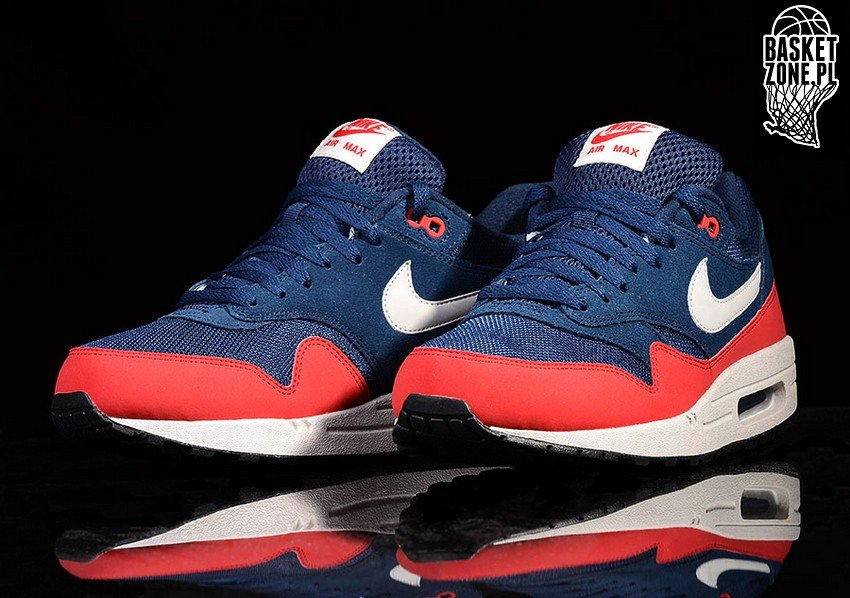 Nike Air Max 1 Université Marine Minuit Essentielle Rouge 5