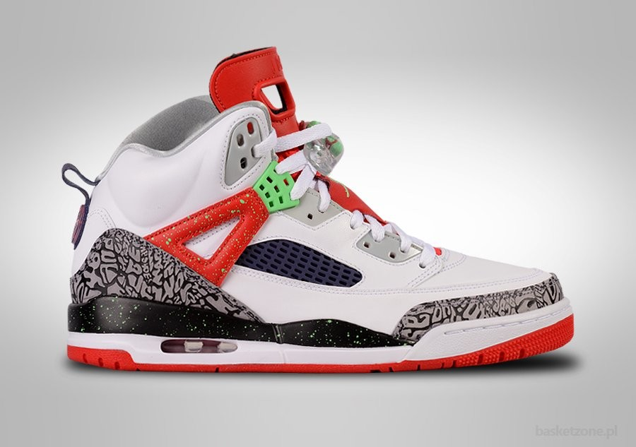 NIKE AIR JORDAN SPIZIKE WHITE RED GREY CEMENT