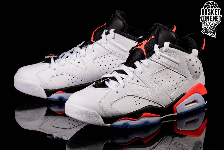 NIKE AIR JORDAN 6 RETRO LOW GS WHITE INFRARED