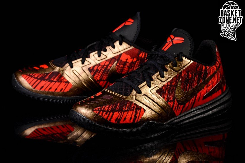NIKE KOBE MENTALITY BLACK GOLD CHILLING RED