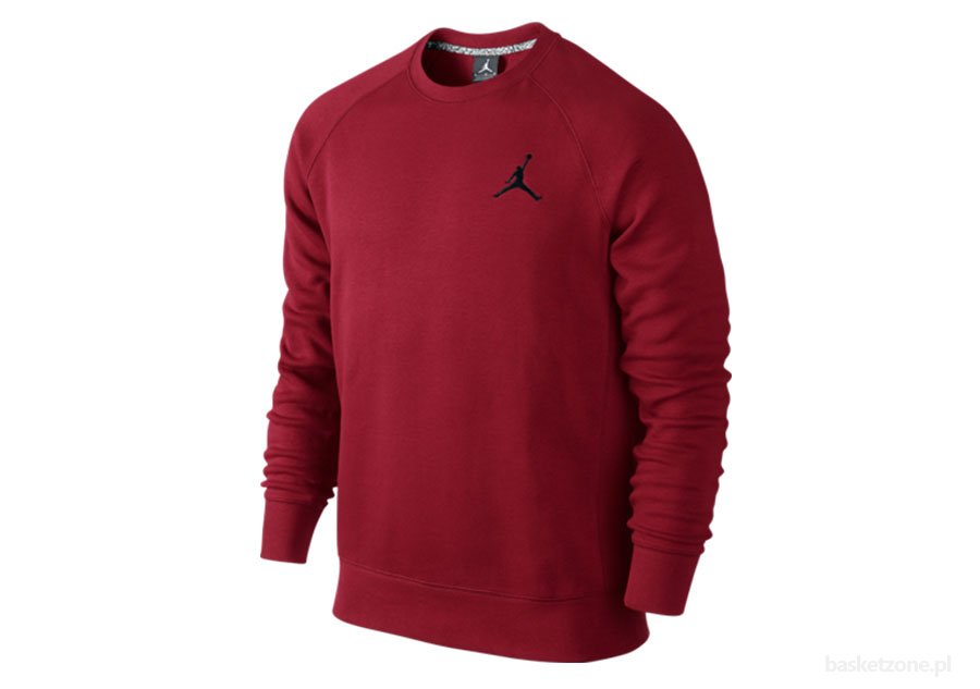NIKE AIR JORDAN JUMPMAN BRUSHED CREW GYM RED/BLACK
