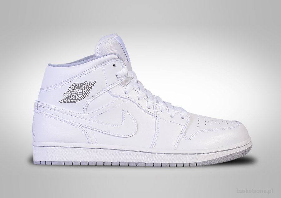 NIKE AIR JORDAN 1 RETRO MID WHITE WOLF GREY BG (SMALLER SIZEs)
