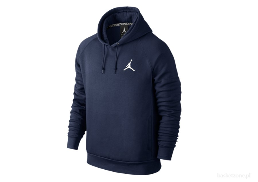 NIKE JUMPMAN BRUSHED PO HOODY MIDNIGHT NAVY/WHITE