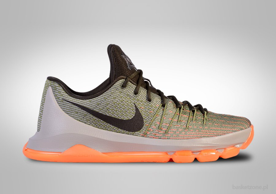 Kevin Durant Wearing the Blue/Yellow Nike KD 8 Elite