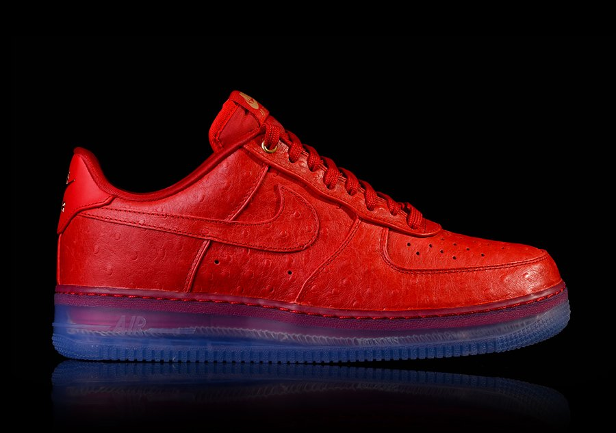 Nike Air Force 1 Lux Confort Faible Therion Dautruche Rouge